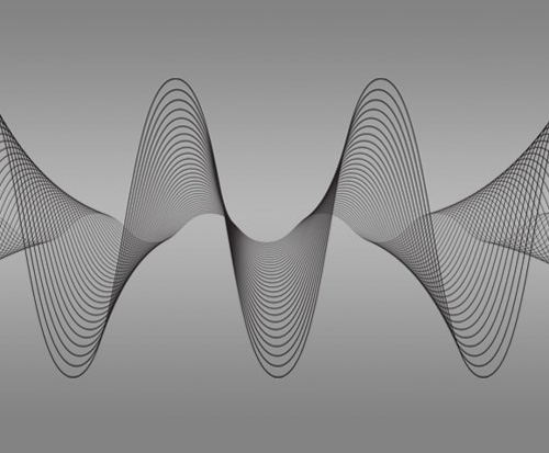 Picture of 3D sound waves