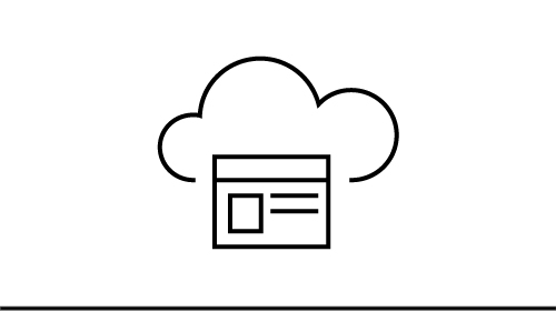 Cloud icon with a window inside