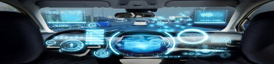 futuristic car dashboard