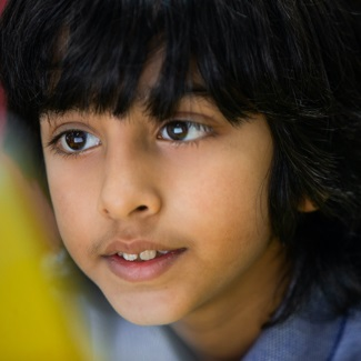 Close up portrait of child