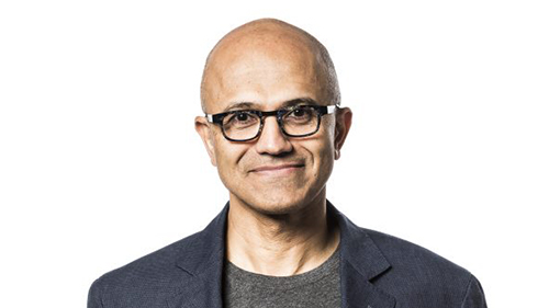 Headshot of Satya Nadella