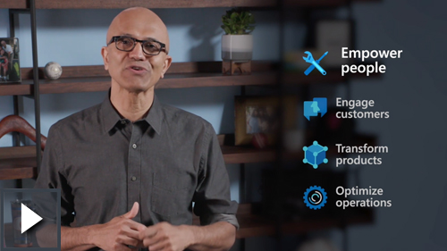 Video thumbnail image of Satya Nadella speaking