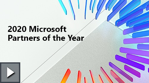 Title card for 2020 Microsoft Partners of the Year