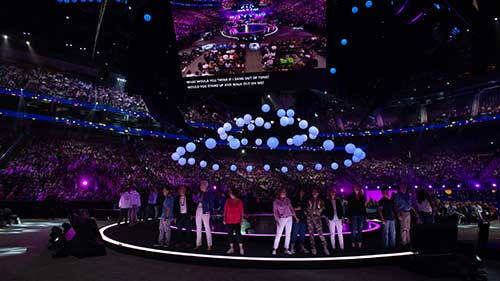 People on stage at Microsoft Inspire