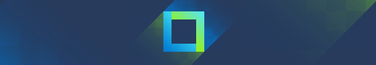 A blue and green square