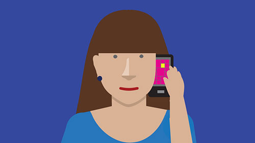 Illustration of woman talking on phone
