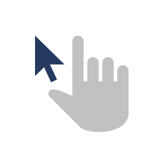 Icon of mouse arrow and hand cursor