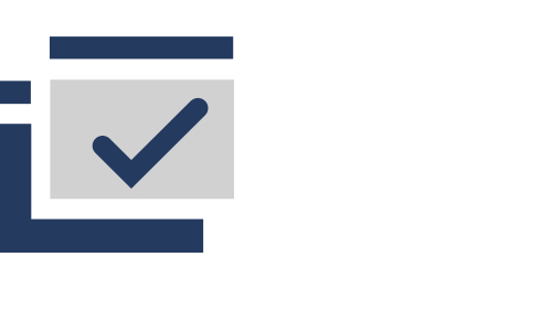Icon of web page graphic with check mark