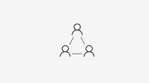 Three-person triangle icon