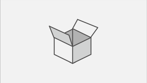 Icon of open cardboard box