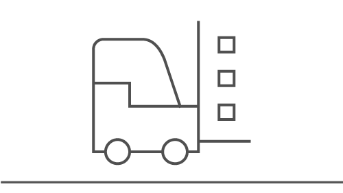 icon of a forklift carrying packages