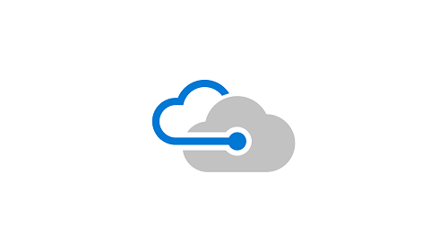 Illustration of two connected clouds. Represents cloud help