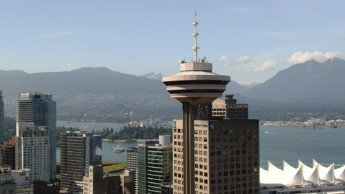 Image of the Harbour Centre in Vancouver BC, Canada