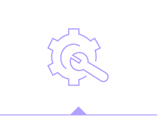 Illustration of a gear and a wrench