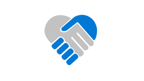 Simple illustration of two hands making a heart