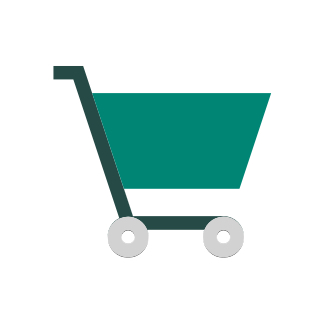 Simple icon of a shopping cart