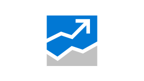 Icon of a graph with an arrow line pointing upward