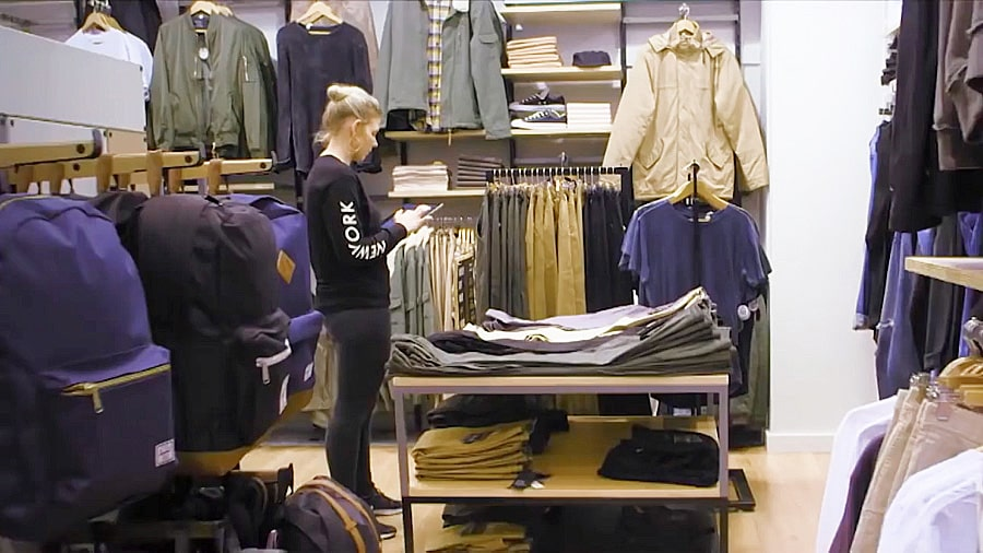 Woman working in a retail store