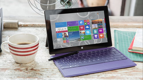 A Surface Pro open to the Partner Offers