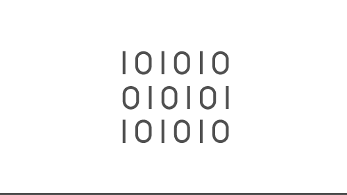Illustration of binary code