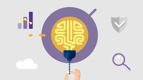Illustration of brain inside lightbulb