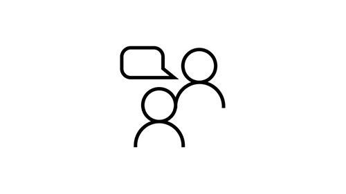 Icon of a conversation