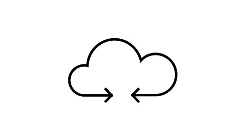 Icon of a cloud with arrows