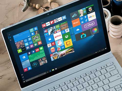 Image of Microsoft Surface set on home screen