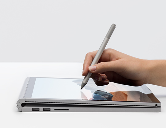 Surface Book 3 Studio Mode showing Inking with digital pen