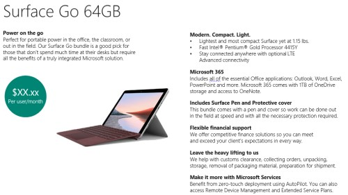 Surface Go offer