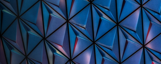 Blue and red geometric pattern