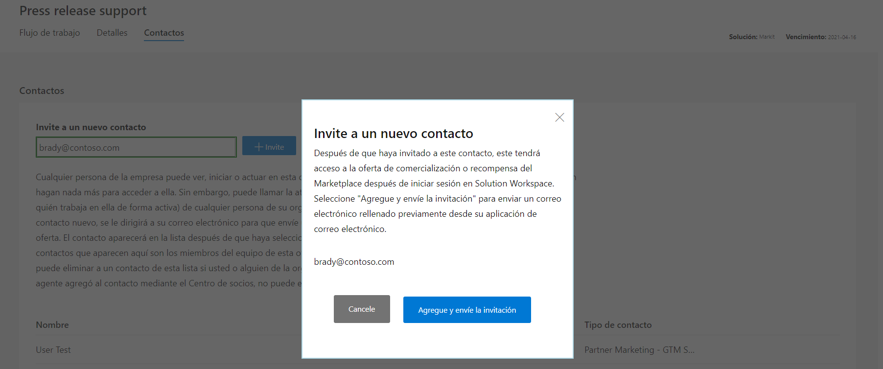 Image of invite new contact