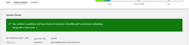 Image of the Microsoft commercial marketplace section