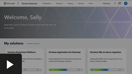 My solutions page in Solution Workspace