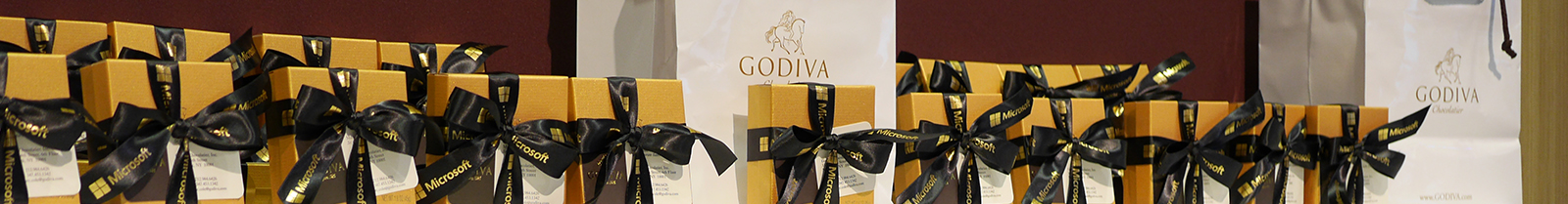 Godiva chocolates for guests of Microsoft Worldwide Partner Conference
