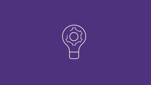 Lightbulb with gear inside