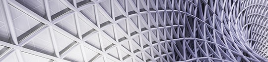 Image of repeated geometrical architecture