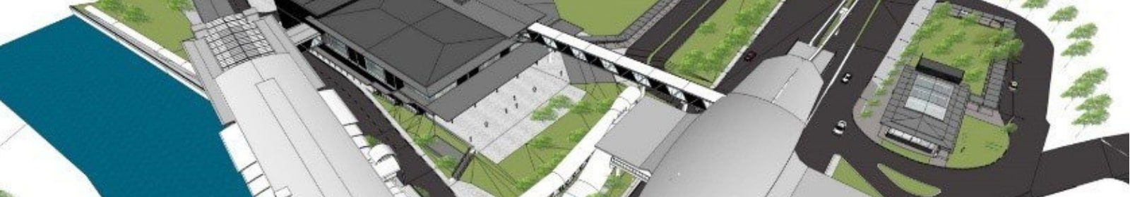 Plans for new transit system are depicted in graphics