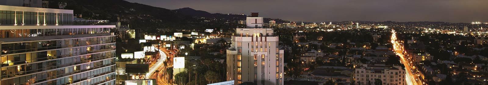 Image of city skyline at night