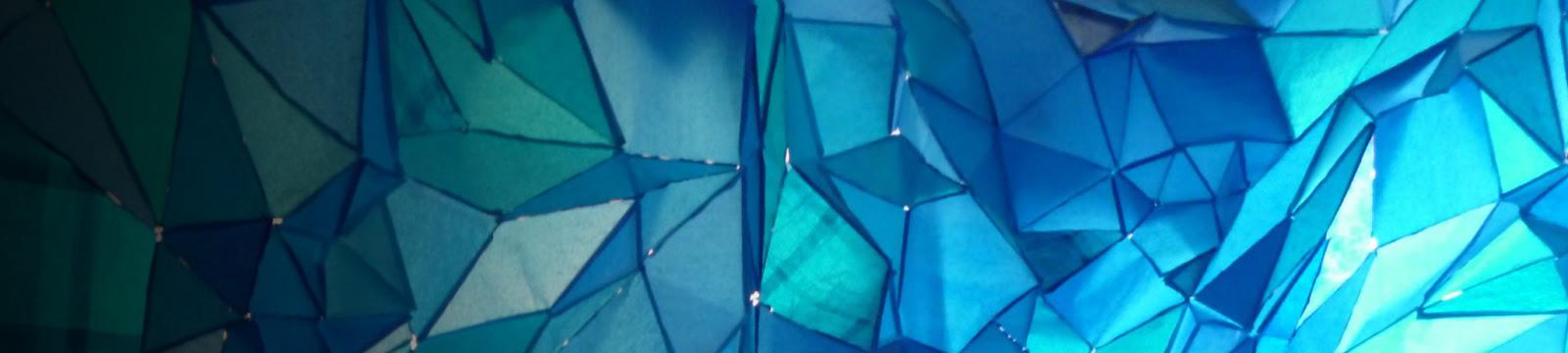 Geometric art that resembles ice