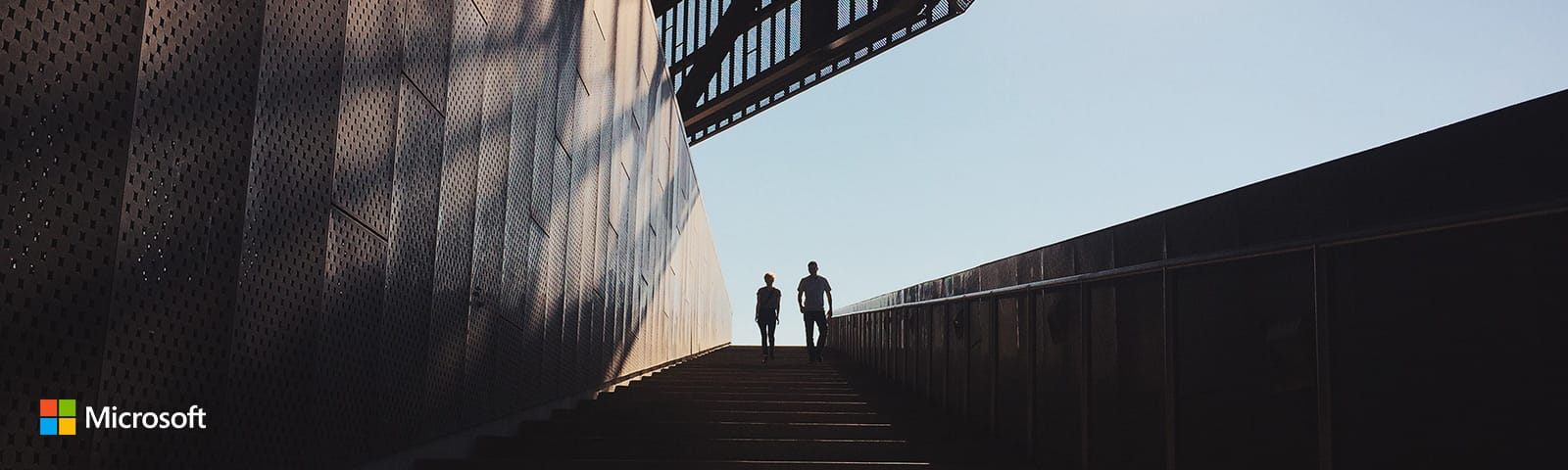 men walking on stairs