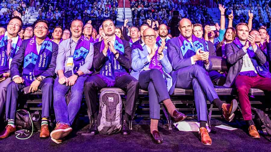 Partners in crowd at 2018 Inspire
