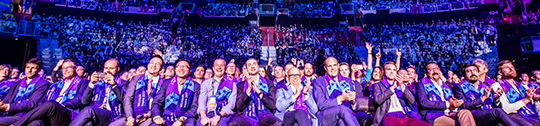 Panoramic audience photo