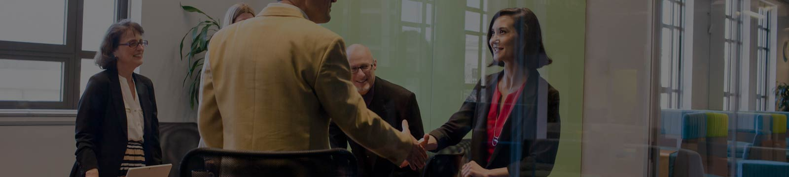 A group of CSP Partners shaking hands