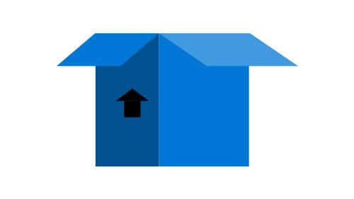 Animated blue box