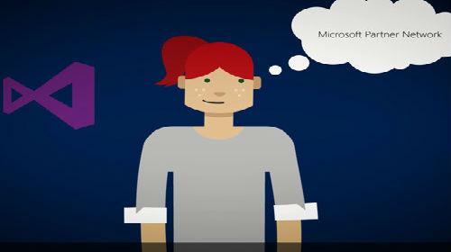 Eine Frau denkt über das Microsoft-Partnerportal nach