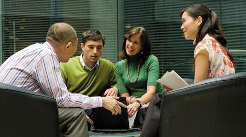 Os parceiros da Microsoft participam juntos da rede de contatos