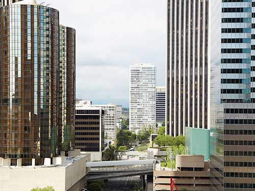 : Image of skyscrapers downtown