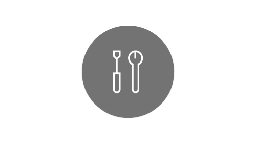 Tools icon on silver