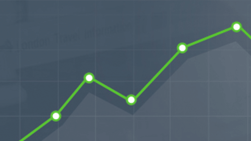 Illustration of a line graph showing data trends